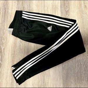 Adidas Track Pant Joggers Black/White 3-Stripe XS
